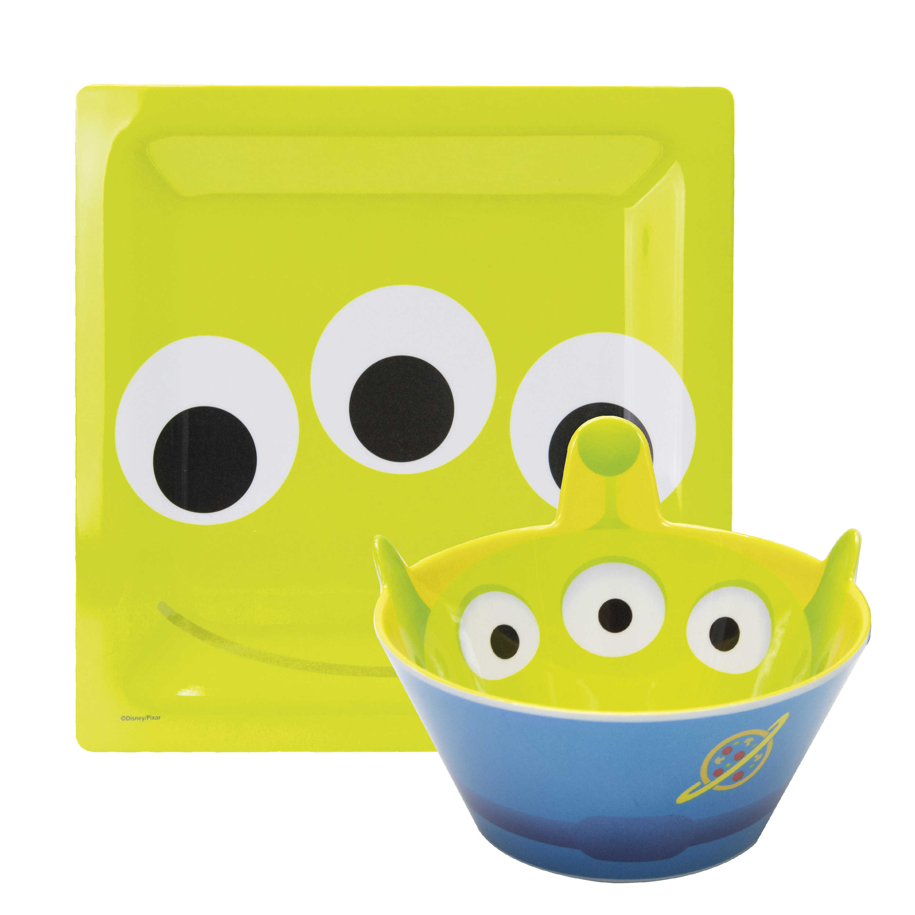 Disney and Pixar Plate and Bowl Set, Aliens, 2-piece set slideshow image 1