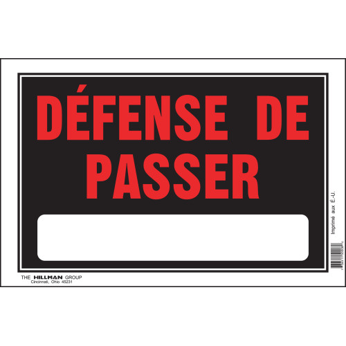 French No Trespassing Sign (8