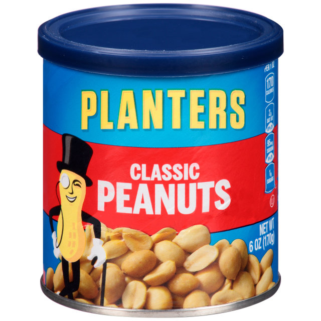 PLANTERS Classic Peanuts 6 oz Can image