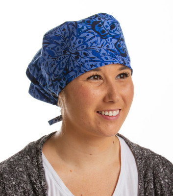 Landau Six-Pack of Scrub Caps for Women: Assorted Patterns-