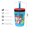 Paw Patrol 15  ounce Plastic Tumbler, Chase, Skye, Marshall and Friends, 3-piece set slideshow image 2