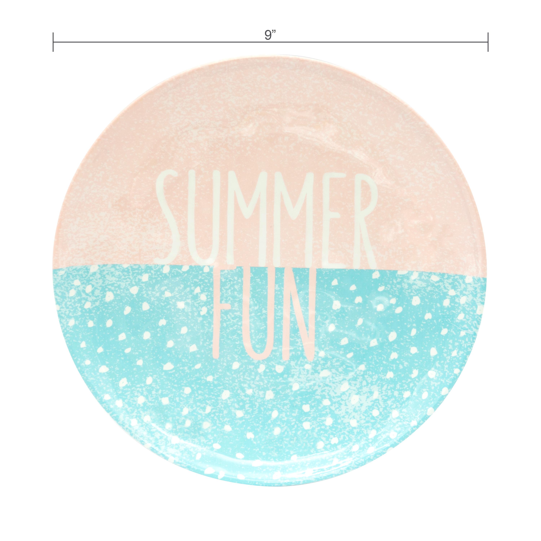 Summer Prints Dinnerware Set, Pink Tropics, 12-piece set slideshow image 7