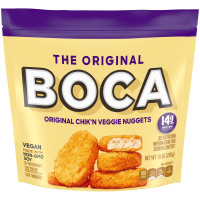 BOCA Chick'n Vegan Nuggets made with NonGMO Soy 10 oz Pouch image