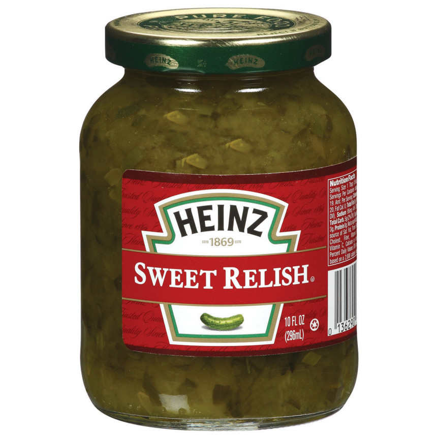 Heinz Sweet Relish, 10 fl oz Jar
