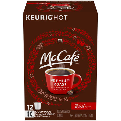 McCafe Premium Roast Coffee K-Cup Pods, 12 count