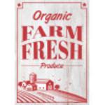 "Aluminum Organic Farm Fresh Sign 10"" x 14"""