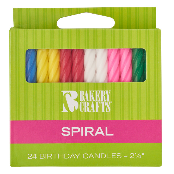 Assorted Colors Smooth & Spiral Candles