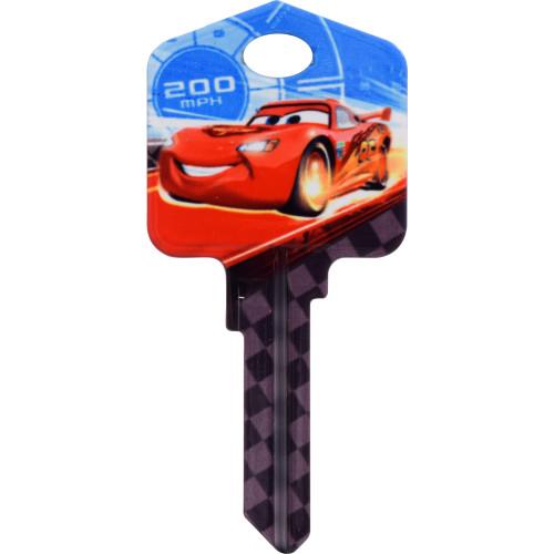 Disney Lightning McQueen Key Blank Kwikset 66/97 KW1/10