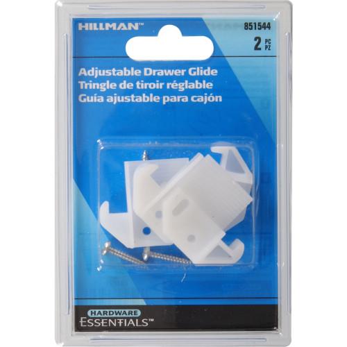 Hardware Essentials White Plastic Adjustable Drawer Guide