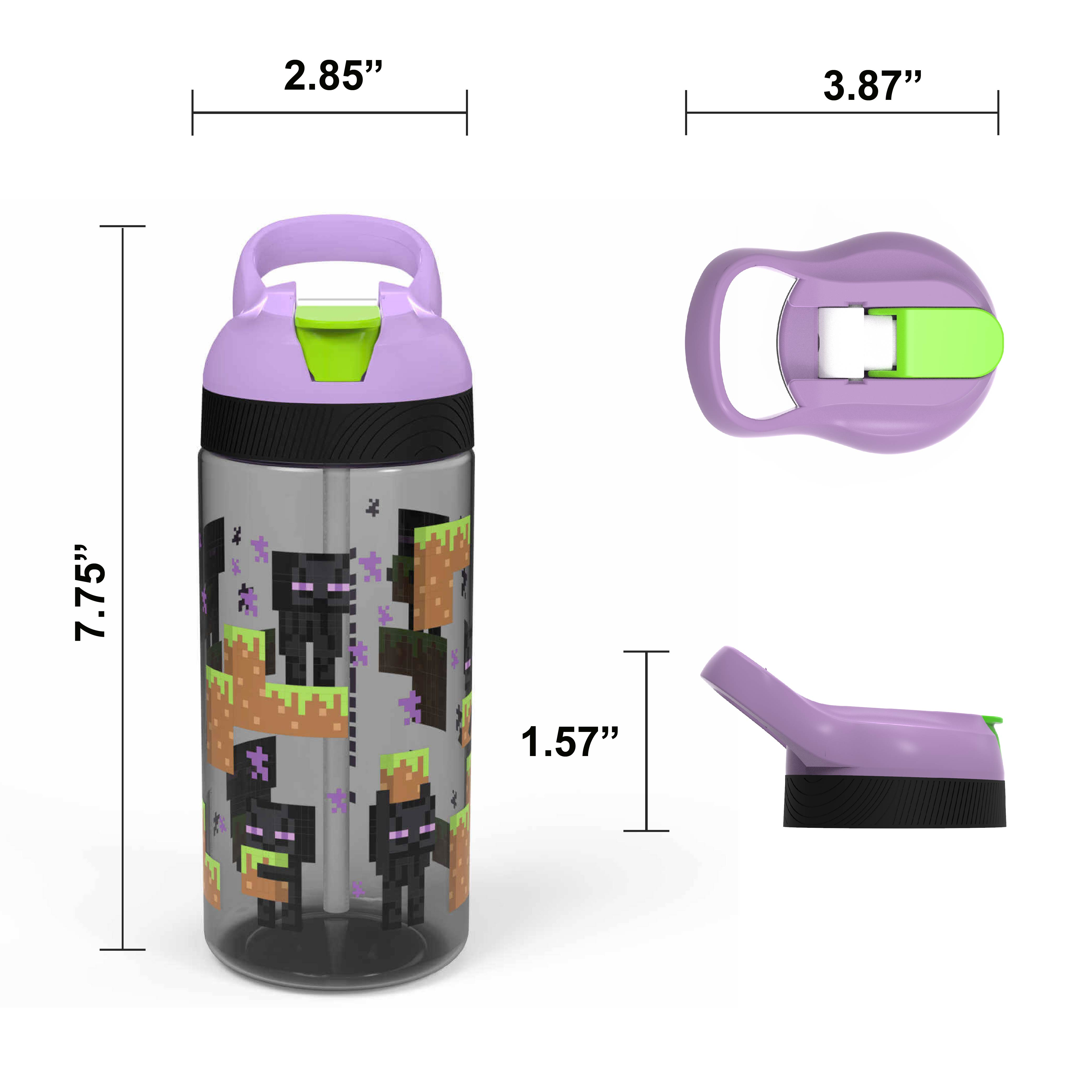 Minecraft Kid's Water Bottle and Sandwich Container Lunch Set, Steve and Alex, 2-piece set slideshow image 12