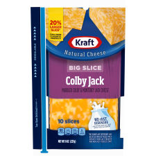 Kraft Big Slice Colby Jack Natural Cheese Slices, 10 slices - 8 oz