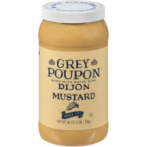 GREY POUPON Dijon Mustard, 48 oz. (Pack of 6) image