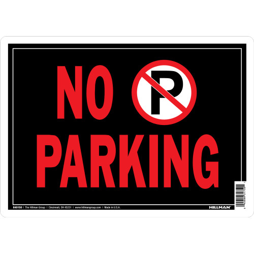 No Parking Sign with Symbol (10