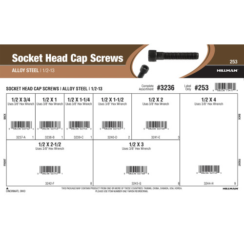 Socket-Head Cap Screws Assortment (1/2
