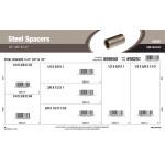 """Steel Spacers Assortment (1/4"""", 3/8"""" & 1/2"""" Inner diameter)"""