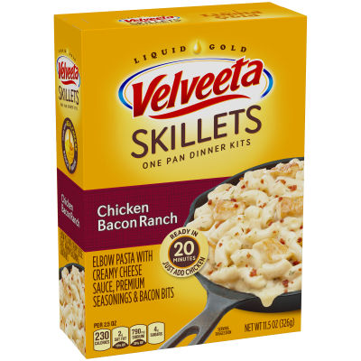 Velveeta Cheesy Skillets Chicken Bacon Ranch Dinner Kit 11.5 oz Box