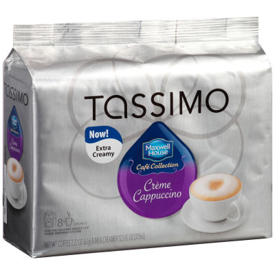 Maxwell House Cafe Collection Creme Cappuccino & Milk Creamer T-Discs for Tassimo Brewing System, 16 count