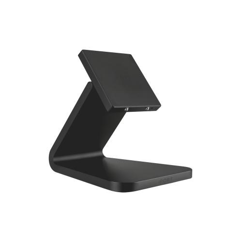 IPORT LUXE BaseStation, the premium iPad wireless charging station by IPORT in black.