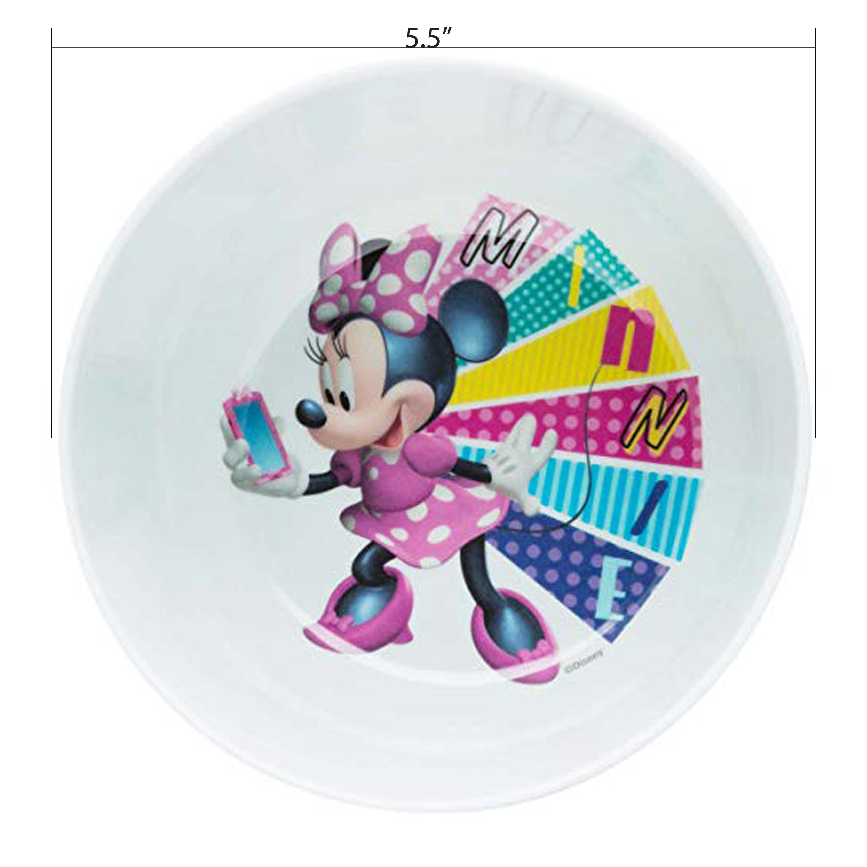 Disney Kid's Dinnerware Set, Minnie Mouse, 3-piece set