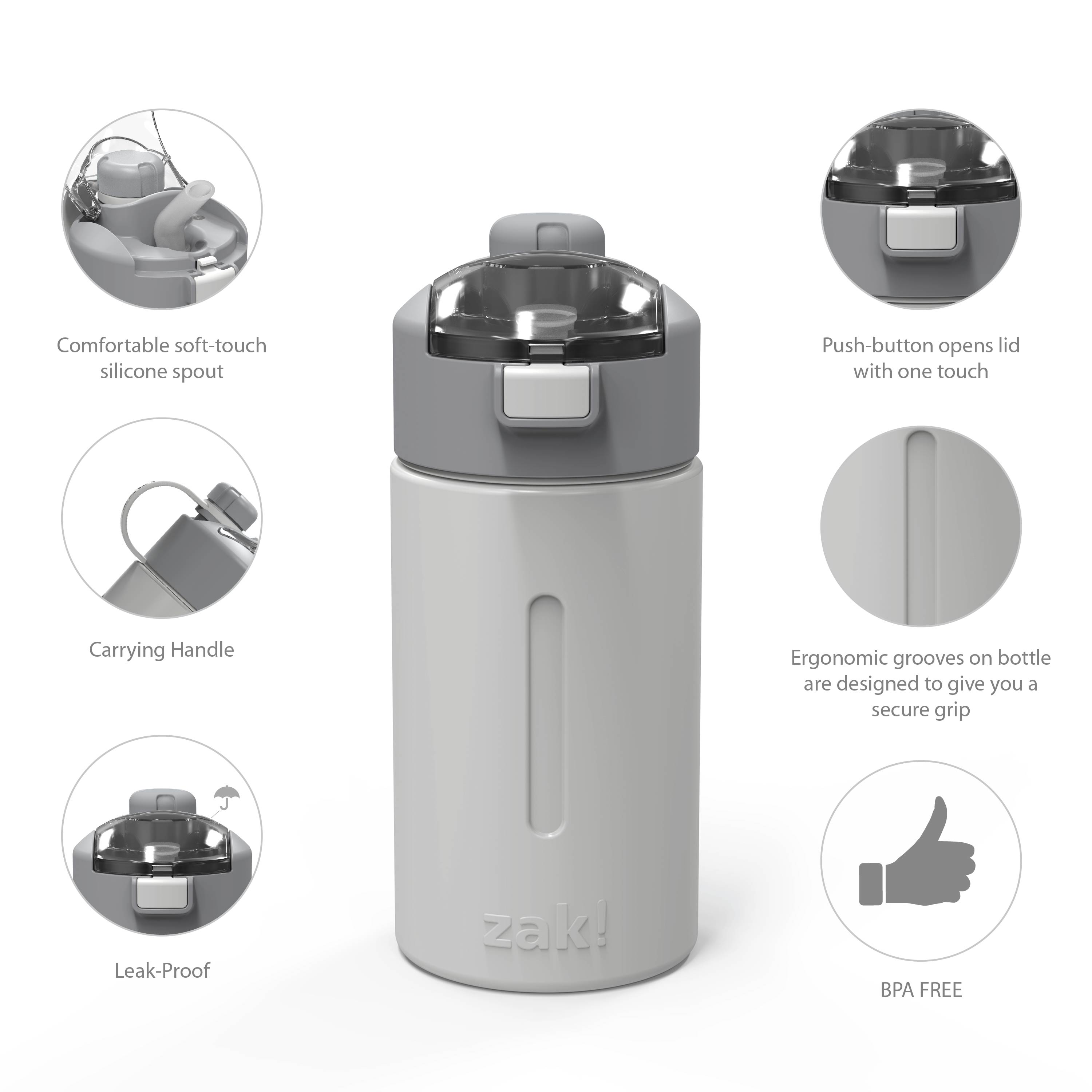 Genesis 12 ounce Vacuum Insulated Stainless Steel Tumbler, Gray slideshow image 7
