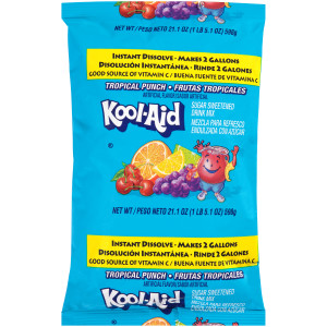 KOOL-AID Tropical Punch Powdered Drink Mix, 21.1 oz. Pouch (Pack of 15) image