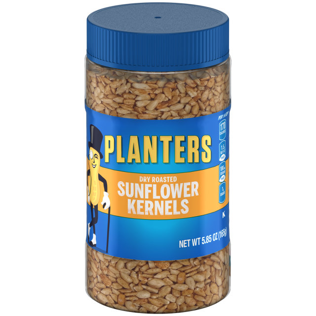 PLANTERS Dry Roasted Sunflower Kernels 3.85 oz Jar image