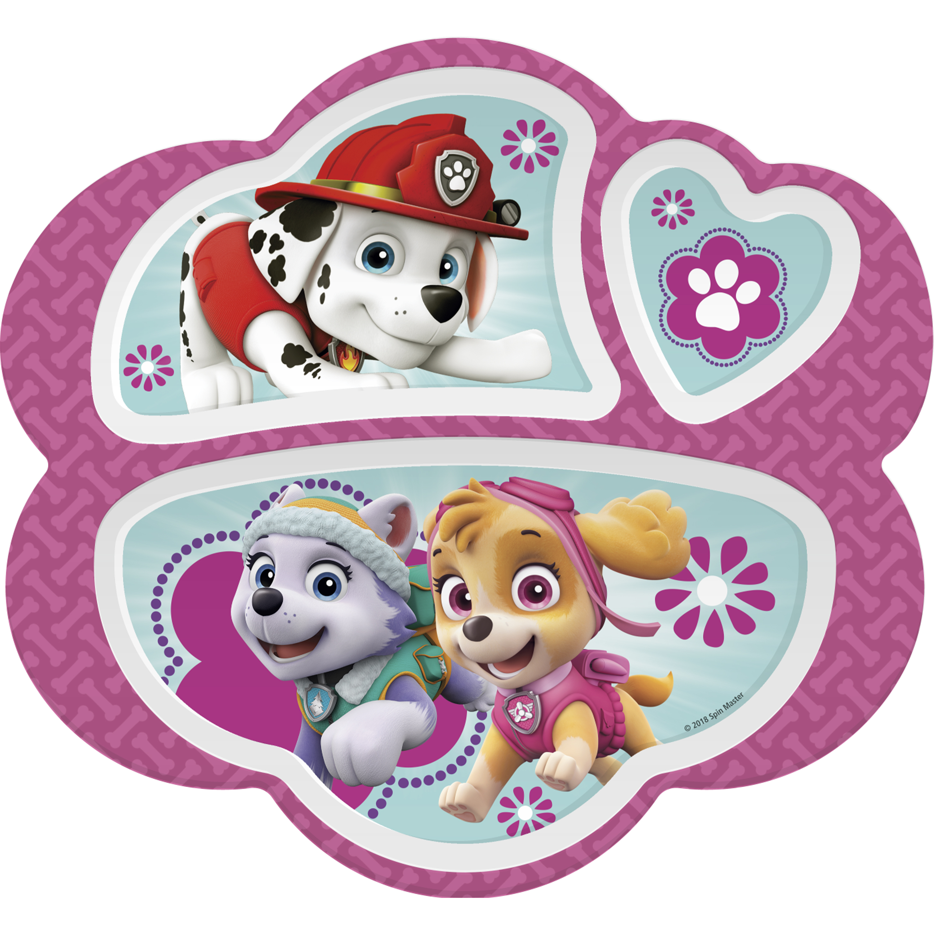 Paw Patrol Kid's Dinnerware Set, Skye, Everest and Marshall, 3-piece set slideshow image 3