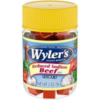 Wyler's Reduced Sodium Beef Flavor Instant Bouillon Cubes 2 oz Jar image