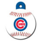 Chicago Cubs Large Circle ID Spot Tag