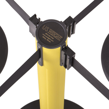 Sentry Stanchion - Yellow with Black Belt 8