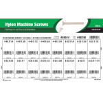 Flat-Head Nylon Machine Screws Assortment (#4-40 thru #8-32 Thread Sizes)