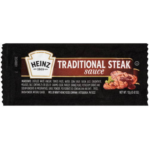 HEINZ Single Serve Steak Sauce, 12 gr. Packets (Pack of 200)