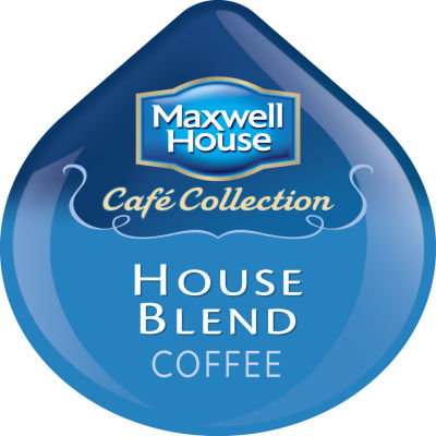 Maxwell House Cafe Collection House Blend Ground Coffee T-Disc for Tassimo Brewing System, 16 count