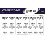 Chrome Bolt Caps & Hole Plugs Assortment