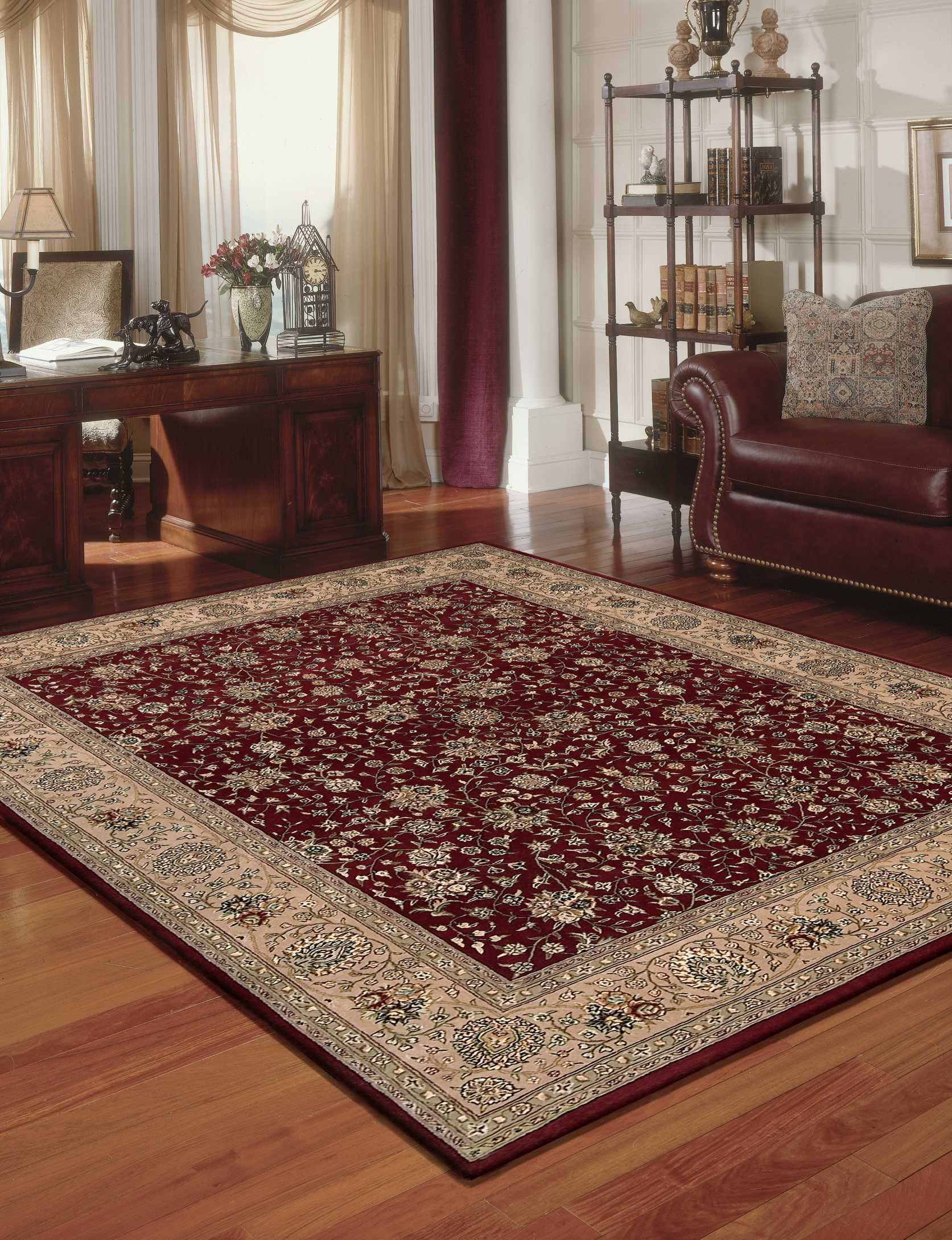 Nourison 2000 2107 Burgundy 8' Runner  Area Rug