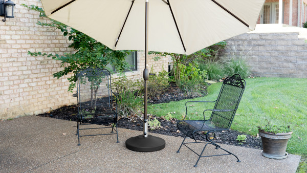 80 lb Free Standing Umbrella Base - Black 7
