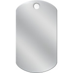 Chrome Large Military ID Quick-Tag