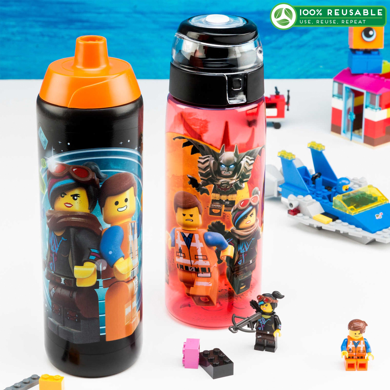 LEGO Movie 2 25 ounce Water Bottle, Batman, Wyldstyle & Emmet, 2-piece set slideshow image 1