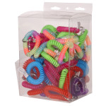 Assorted Wrist Coil Key Rings