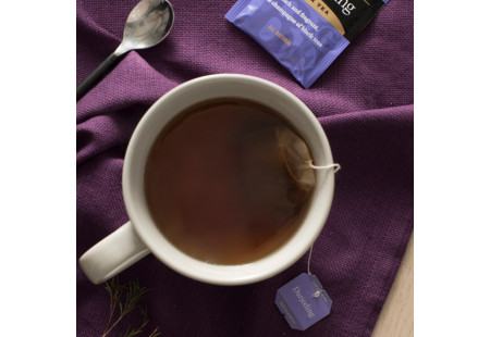 Lifestyle image of a cup of Bigelow Darjeeling Tea