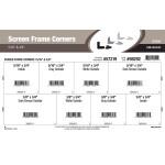 """Screen Frame Corners Assortment (5/16"""" & 3/8"""" Widths)"""
