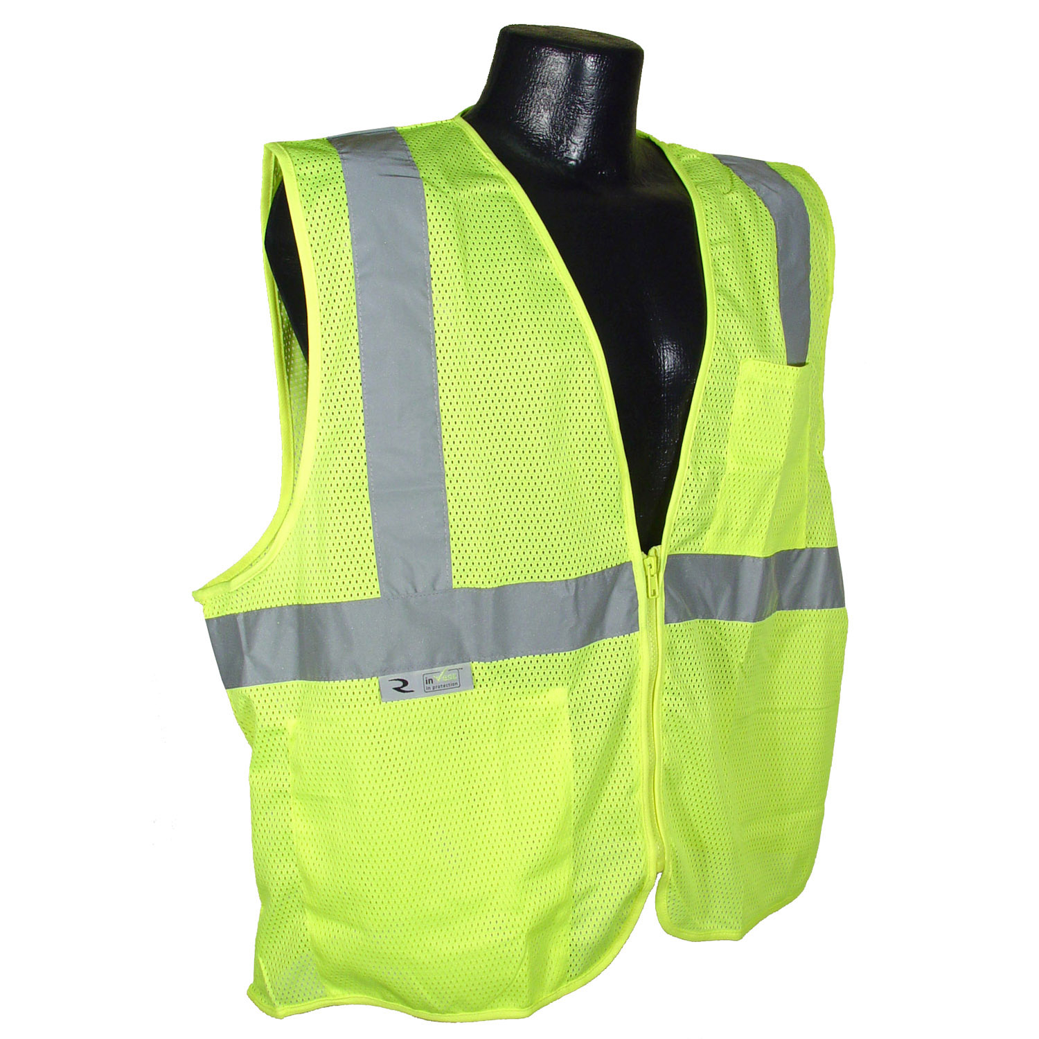 Radians SV25 Economy Class 2 Self Extinguishing Safety Vest with Zipper