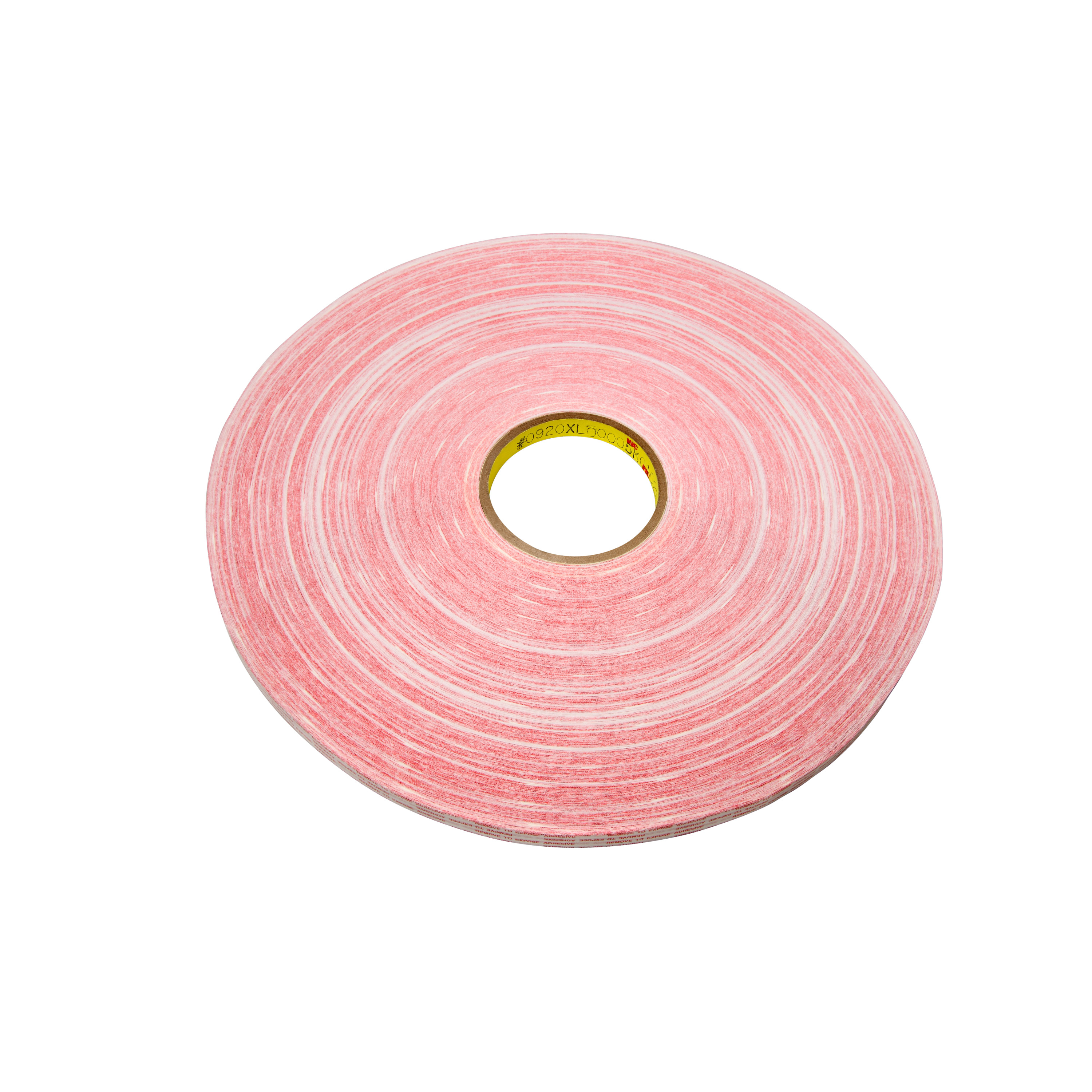 3M™ Adhesive Transfer Tape Extended Liner 920XL, Translucent, 1/2 in x 1000 yd, 1 mil, 12 rolls per case