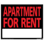 "Apartment For Rent Sign (19"" x 24"")"