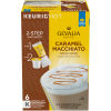 Gevalia Caramel Macchiato Espresso Coffee with Froth Packets, K-Cup Pods, 6 Count