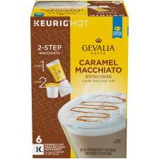 Gevalia Caramel Macchiato K-Cups Pods with froth Packet, 6 count