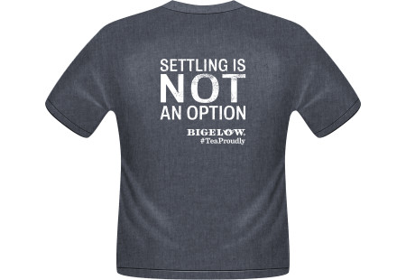 Front of Bigelow Tea Shirt