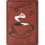 "Vintage Cappuccino Novelty Sign (10"" x 14"")"