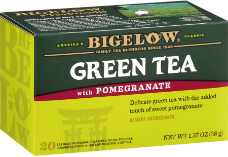 Green Tea with Pomegranate - Case of 6 boxes - total of 120 teabags