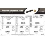 "Manifold Automotive Studs & Brass Nuts Assortment (3/8"" & 7/16"")"